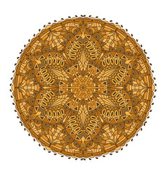 mandala golden decoration oriental decorative vector image