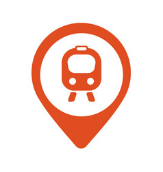 map icon with train trolley vector image