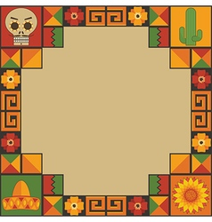 Mexican frame decoration vector
