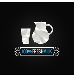 Milk glass poly design background vector