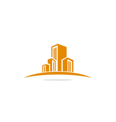 Modern building company logo vector