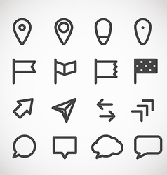 Modern gadget web icons collection vector