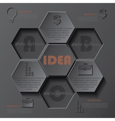 Modern template infographics design vector image