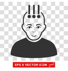 Neural Interface EPS Icon vector