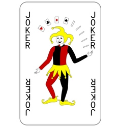 Poker playing card joker vector