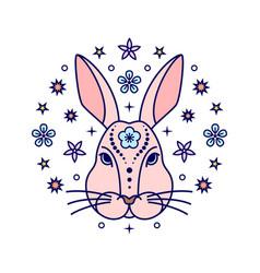 rabbit chinese zodiac sign vector image