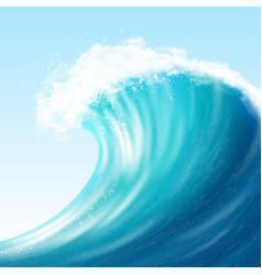 Realistic sea big wave vector