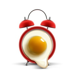 red alarm clock egg vector image