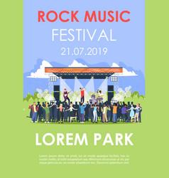 rock music festival brochure template summer vector image