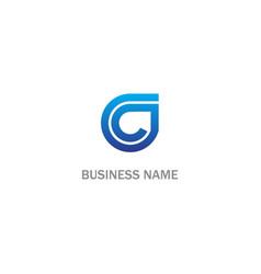 round line initial business logo vector image