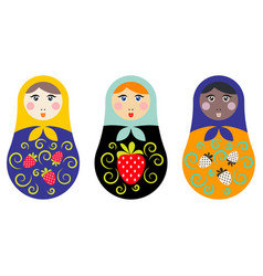 Russian nesting doll set vector