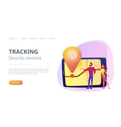 School bus tracking system concept vector