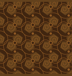 seamless abstract pattern in coffee color vector image
