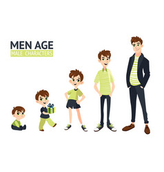 Set characters in cartoon flat style vector