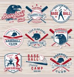 set of baseball or softball club badge vector image