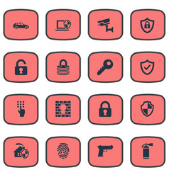 Set of simple secure icons vector