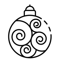 swirl tree ball icon outline style vector image