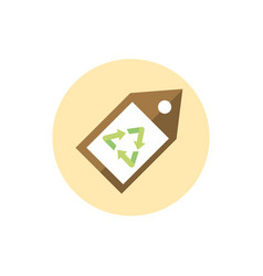 tag recycle coupon green energy block icon vector image