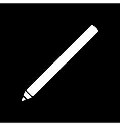 The pencil icon Pen symbol Flat vector