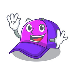 waving isolated cap in the a mascot vector image