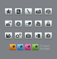web 20 - satinbox series vector image