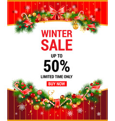 Winter christmas template vector