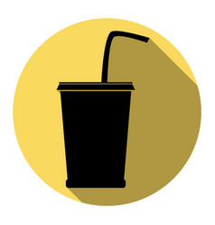 drink sign flat black icon vector image