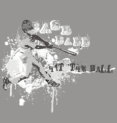hit the ball vector image vector image