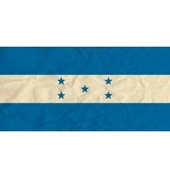 Honduras paper flag vector image
