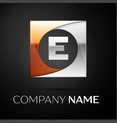 letter e logo symbol in the colorful square on vector image vector image