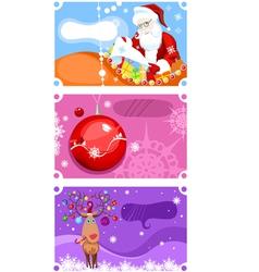christmas card set vector image