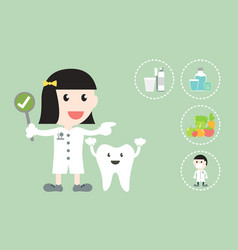 dental health care - dentist and tooth vector image vector image