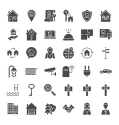house solid web icons vector image vector image