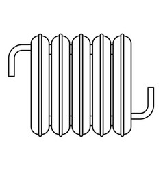 iron central heating battery icon outline style vector image vector image