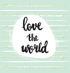 love world bc vector image