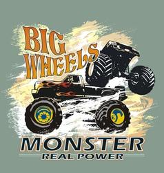 Monster big wheels vector