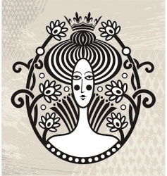 portrait of a beautiful queen vector image vector image