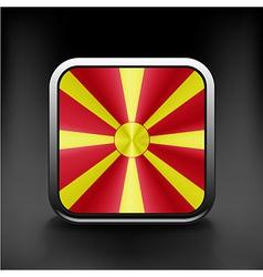Raster version Flag of Macedonia glossy icon vector image