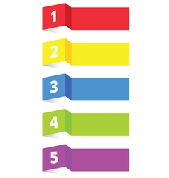 tag label paper color vector image