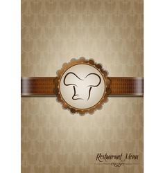 Brown restaurant menu design vector image vector image