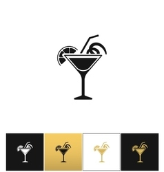 Cocktail glass sign like margarita icon vector image