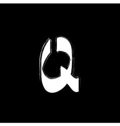 Isolated graffiti font icon White grunge style vector image