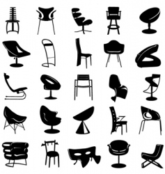 modern chair vector image vector image