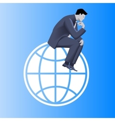 Thinking globally business concept vector image vector image