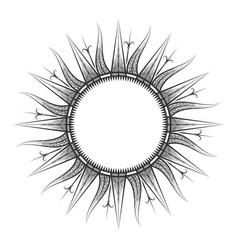 antique sun tarot astrological symbol sketch vector image vector image