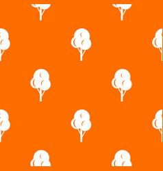 Autumn tree pattern seamless vector