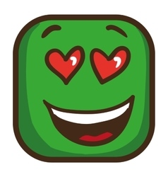 Colorful emoticon square emoji flat vector image