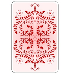 Poker playing card backside red vector image vector image