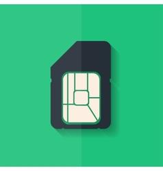 Sim card web icon Flat design vector image