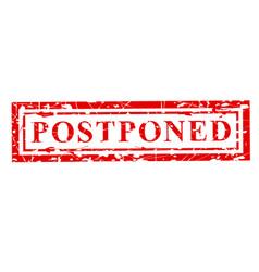1 red grunge rubber stamp effect postponed vector